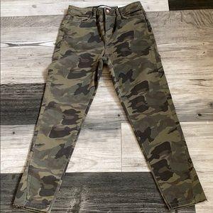 Zara Camouflage Skinny Jeans